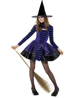 Teen Stripe Dark Fairy Costume