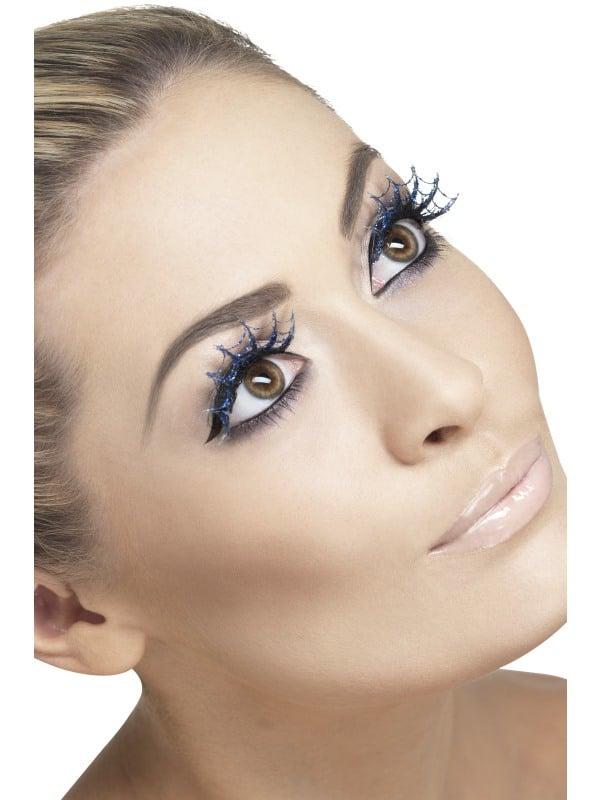 Eyelashes Spiderwebs with Glitter