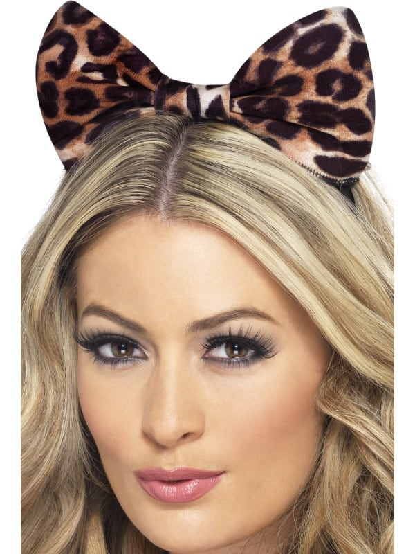 Cheetah Bow on Headband