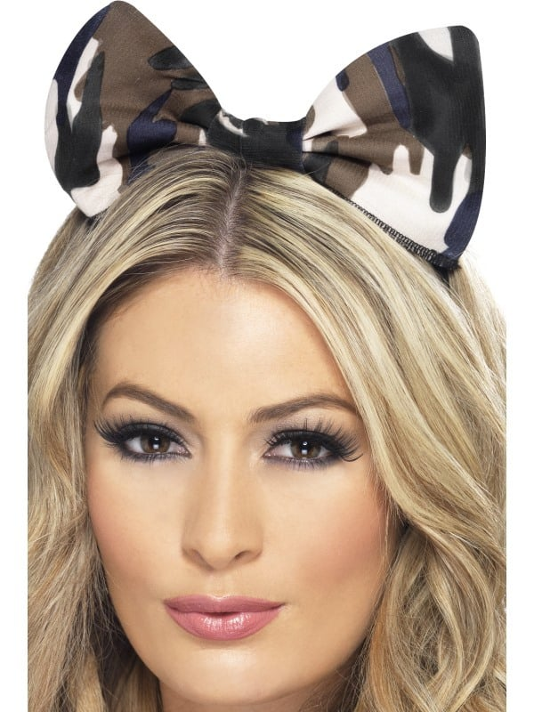Army Bow on Headband