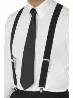 Black Elasticated Braces