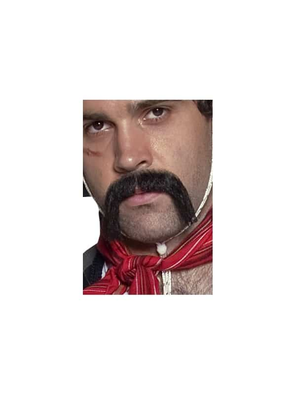 Authentic Western Mexican Handlebar Moustache