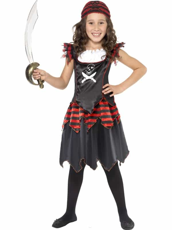 Pirate Skull & Crossbones Girl Costume