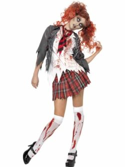High School Horror Zombie Schoolgirl Costume