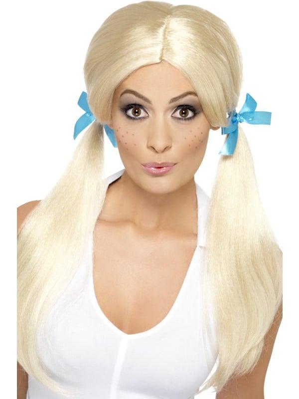 Sassy Schoolgirl Pigtails Wig