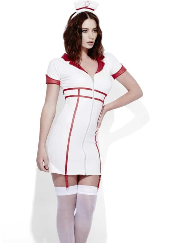 Fever Role-Play Nurse Wet Look Costume