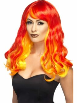 Ombre Devil Flame Wig