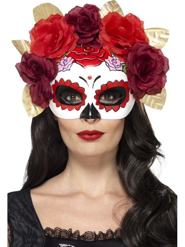 Day of the Dead Rose Eyemask