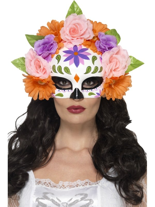 Day of the Dead Floral Eyemask