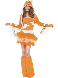 Clownfish Tutu Dress with Detachable Straps