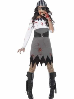 Zombie Pirate Lady Costume