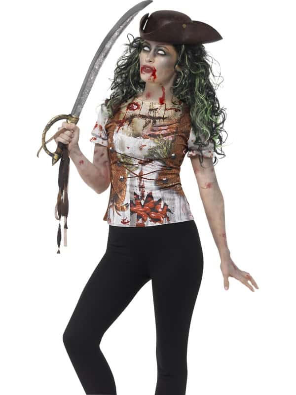 Zombie Pirate Wench T-Shirt