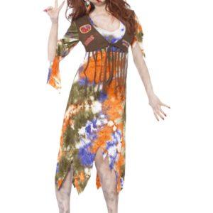 Zombie 60's Hippie Lady Costume